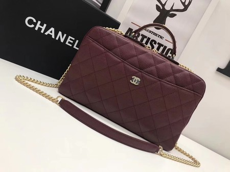 Newest Chanel Flap Tote Bag 6599 wine
