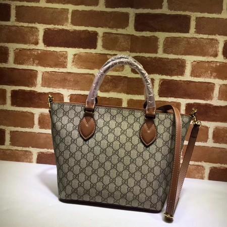 Gucci Canvas Tote Bag 432124 brown