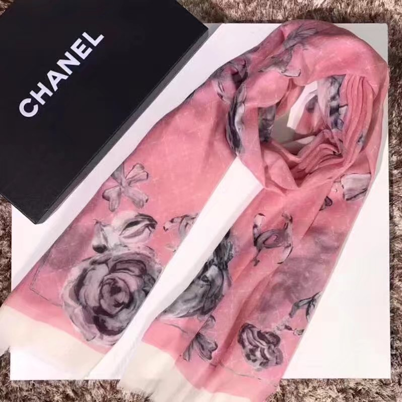top quality Chanel scarf C919268 PINK