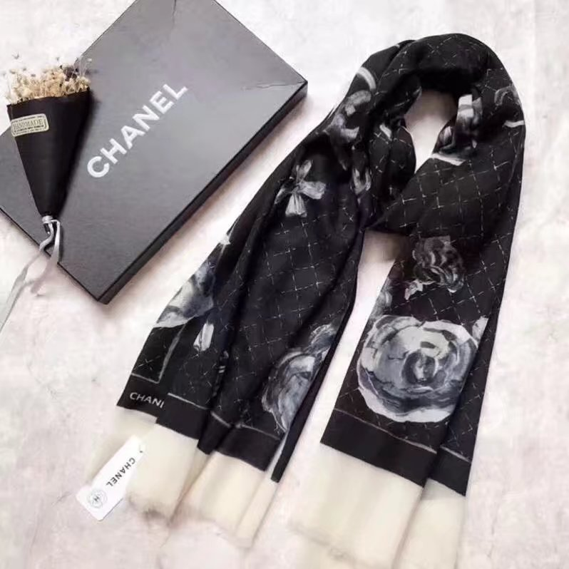 top quality Chanel scarf C919268 BLACK