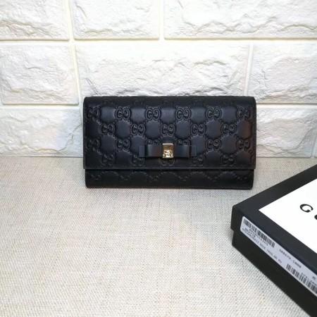 Gucci Bree Guccissima Leather  Wallet 688679  Black