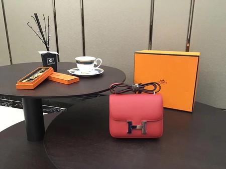 Hermes Constance Original Leatehr mini Shoulder Bag 8006 red