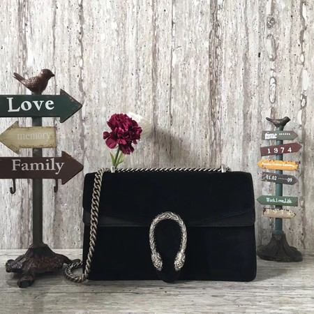 Gucci Dionysus GG Original Shoulder Bag Velvet 400249 black