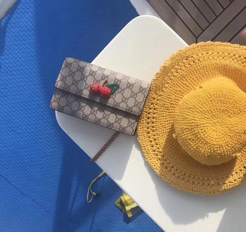 498742938b Gucci Canvas GG cicada Mini Shoulder Bag 481291 red