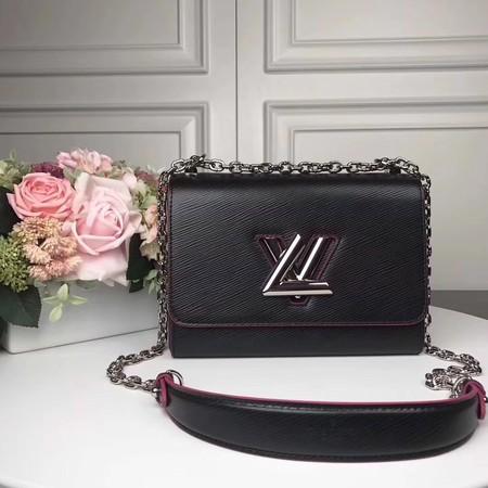 Louis Vuitton TWIST Original leather Shoulder Bag M50280 black with rose