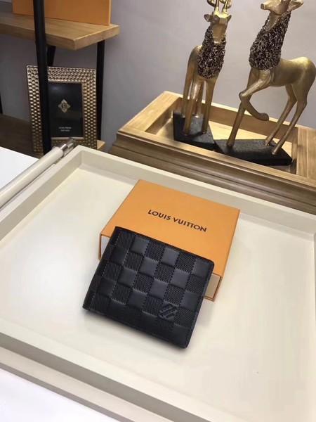 Louis Vuitton DAMIER Wallet N63124 black