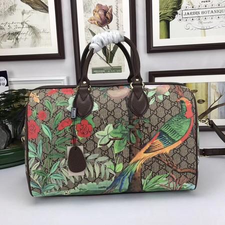 Gucci GG Canvas Boston Bag 409527-1 brown