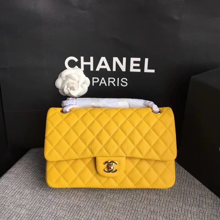 Chanel Flap Shoulder Bag Original Deer leather A1112 yellow gold chain