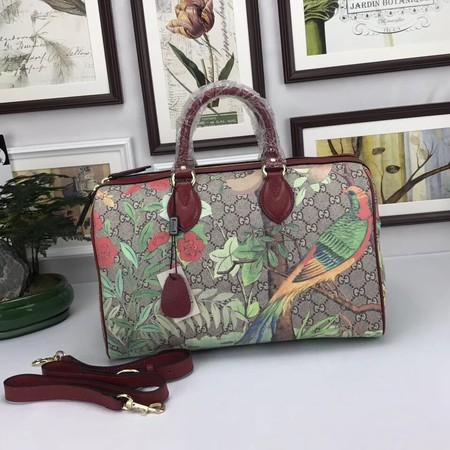 Gucci GG Canvas Boston Bag 409527-5 wine