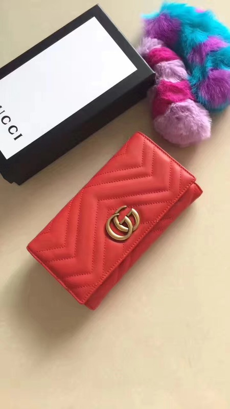 Gucci GG Marmont Wallet A443436 red