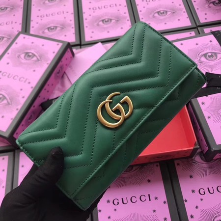 Gucci GG Marmont continental walle A443436 green