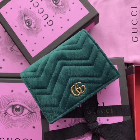 Gucci velvet Wallet 466492 green