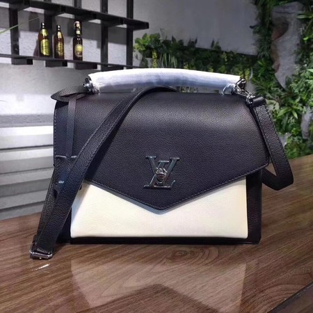 louis vuitton original Leather MY LOCKME 54849 black with white