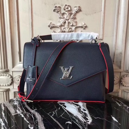 louis vuitton original Leather MY LOCKME 54849 dark blue
