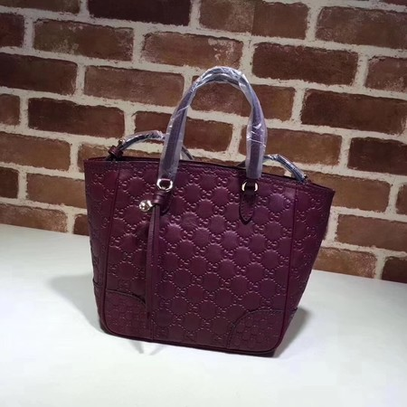 Gucci Calfskin Leather  Top Handle Bag A353121 rose