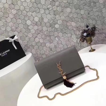 Yves Saint Laurent Monogramme Cross-body Shoulder Bag L2819 gray