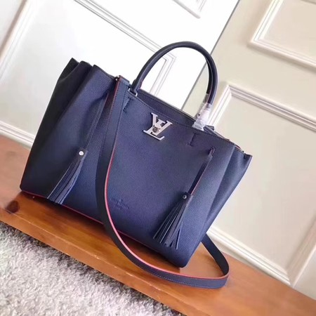 Louis Vuitton original lockmeto lockme Tote Bag M54569 blue