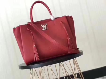 Louis Vuitton original lockmeto lockme Tote Bag M54569 red