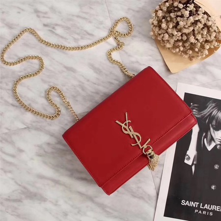 YSL medium kate satchel grained leather 311227 red