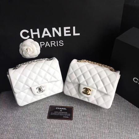 Chanel Classic Flap Bag original Patent Leather 1115 white