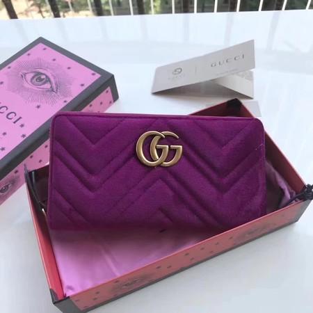 0d3c0da4ec3 Gucci GG marmont velvet Wallet 443123 purple