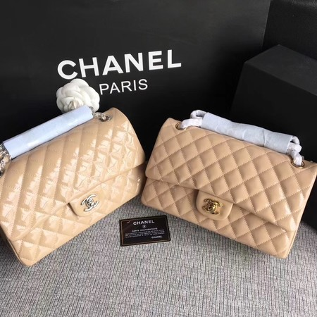 Chanel Classic Flap Bag original Patent Leather 1112 apricot
