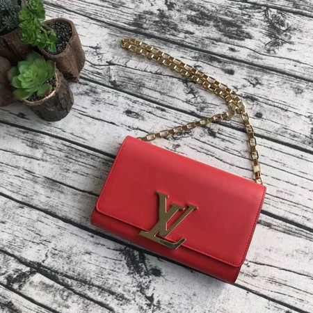 Louis Vuitton CHAIN LOUISE Original leather Shoulder Bag M94335 red