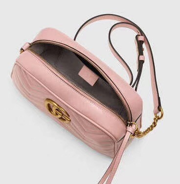 Gucci GG Marmont Matelasse Shoulder Bag 447632 pink