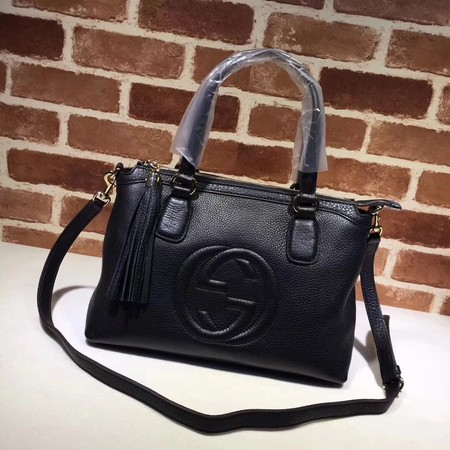 Gucci Calf Leather Soho Top Handle Bag 308362 black