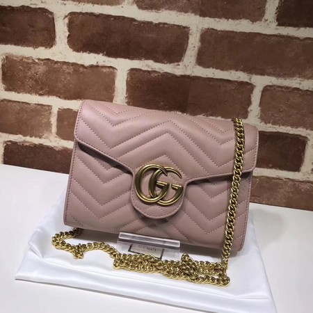 Gucci GG original mini calfskin shoulder bag 474575 pink