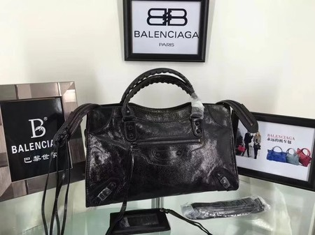Balenciaga The City Handbag Calf leather 084332 black