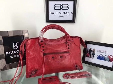 Balenciaga The City Handbag Calf leather 084332 red