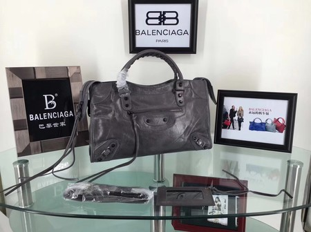 Balenciaga The City Handbag Calf leather 084332 grey