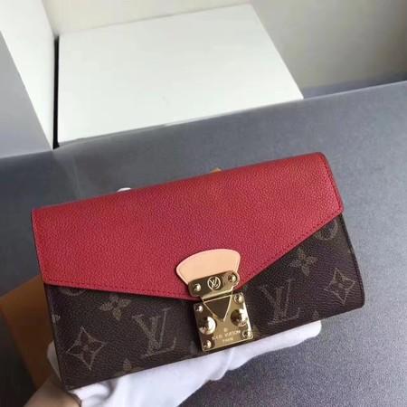 Louis Vuitton Monogram Canvas Padlock Wallet M58414 red