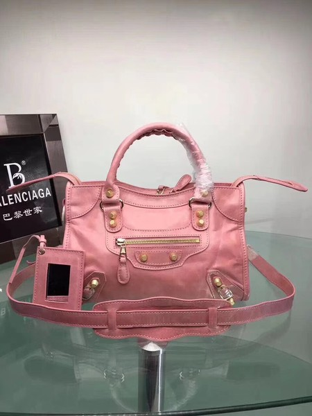Balenciaga The City Handbag Calf leather 084333 pink