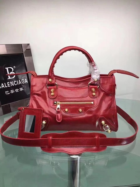 Balenciaga The City Handbag Calf leather 084333 red