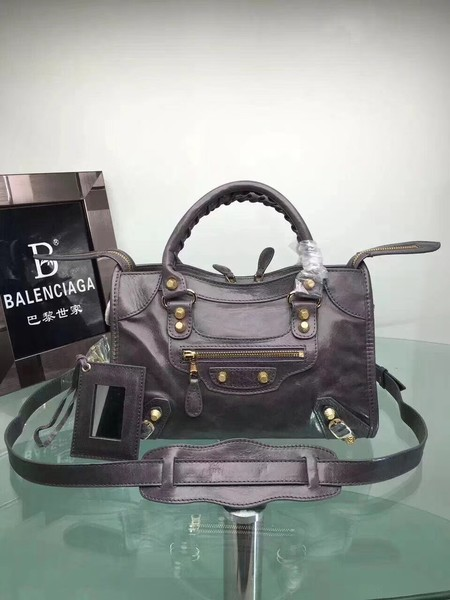 Balenciaga The City Handbag Calf leather 084333 grey
