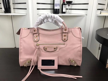 Balenciaga The City Handbag Sheepskin 084334 pink