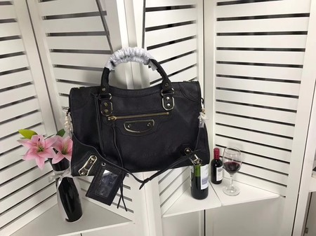 Balenciaga The City Handbag Sheepskin 084334 black