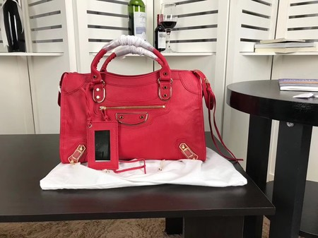 Balenciaga The City Handbag Sheepskin 084334 red
