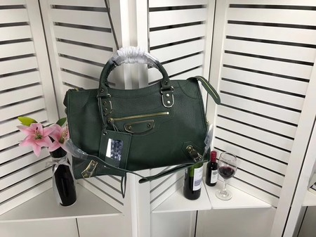 Balenciaga The City Handbag Sheepskin 084334 green