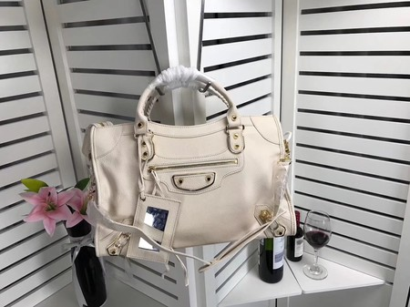 Balenciaga The City Handbag Sheepskin 084334 creamy