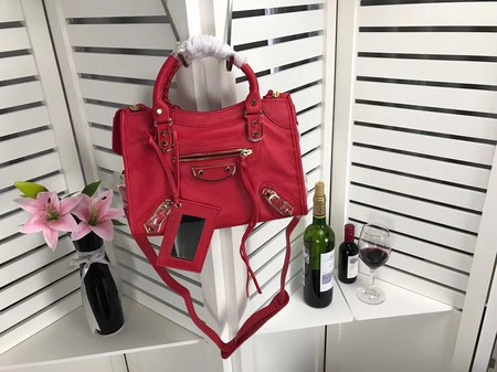 Balenciaga The City Handbag Sheepskin 084335 red