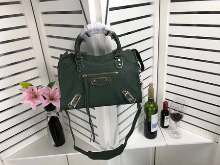 Balenciaga The City Handbag Sheepskin 084335 green