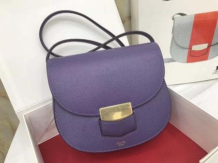 Celine Compact Trotteur Cattle leather Mini Shoulder Bag 1268 purple