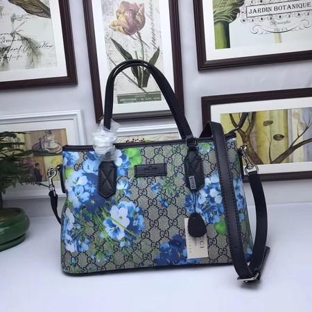 GUCCI GG Supreme Blooms Tote Bag 429019 Black