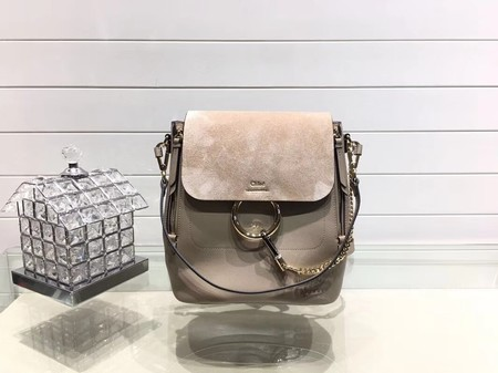 Chloe Faye original suede leather Backpack C4756 apricot