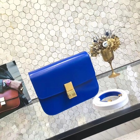 Celine Classic Box Small Flap Bag Calf leather 5698 blue