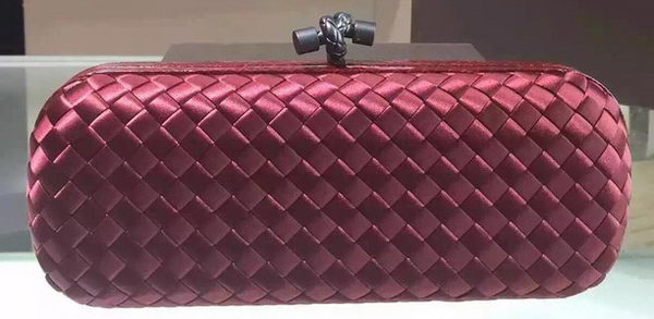 Bottega Veneta STRETCH Knot Clutch 0313 Burgundy