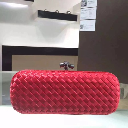 Bottega Veneta Japanese Silk ribbon Clutch 0313 red
